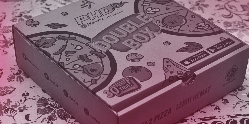 Pizza Hut Double Box (Branding and Packaging)